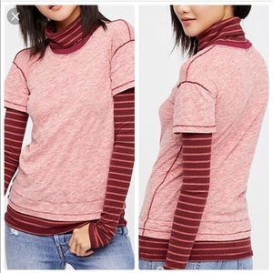 We The Free Piper Towfer Striped Tee Size XS